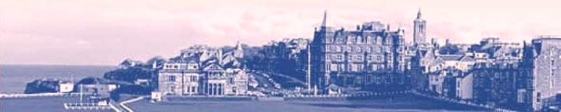 Photograph of St Andrews from the Old Course
